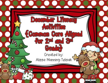 December Literacy Centers {Common Core Aligned for 2nd and 3rd Grade}