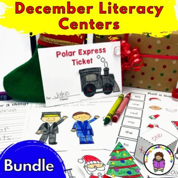 December Literacy Center Activities (Bundle)
