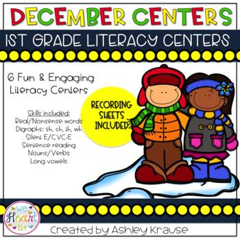 December Literacy Centers - 1st Grade