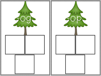 Christmas Literacy Centers- CVC Words December