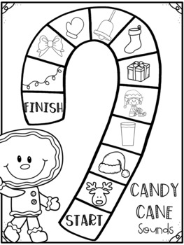 Christmas Literacy Centers- Ending Sounds Board Game December