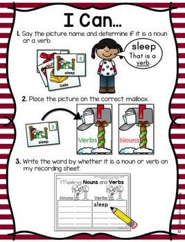 December Literacy Centers - First Grade