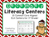 December Literacy Centers Menu {CCS Aligned} Grade 1