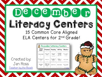 December Literacy Centers Menu {CCS Aligned} Grade 2