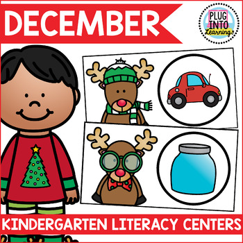 December Literacy Centers for Kindergarten