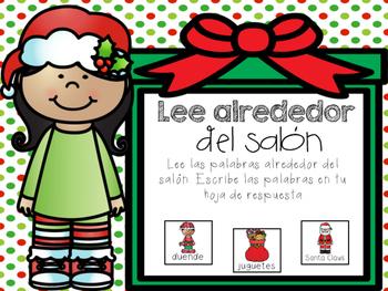 December Literacy Centers in Spanish