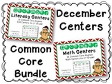 December  Literacy & Math Centers Menu BUNDLE {CCS Aligned} Grade 1