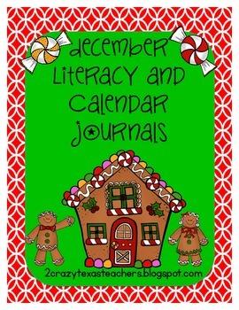December Literacy and Calendar Journals