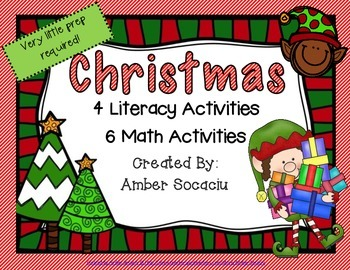 December Literacy and Math Centers For Christmas
