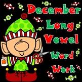 December Long Vowel Cut and Paste Worksheets
