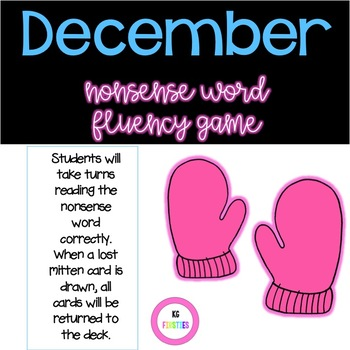 December Lost Mitten Nonsense Word Fluency Game