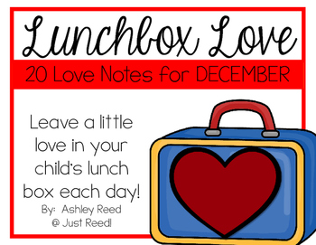 December Lunch Box Love Notes