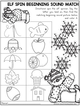 Christmas Centers Kindergarten Differentiated - Math & Literacy