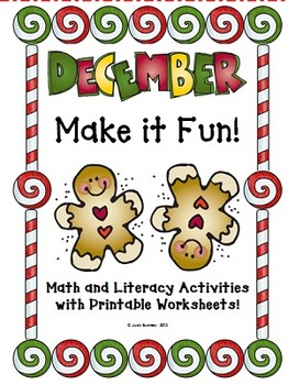 December Make It Fun Math and Literacy Activities