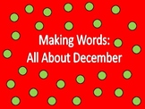 """December """"Making Words"""" Activities"""