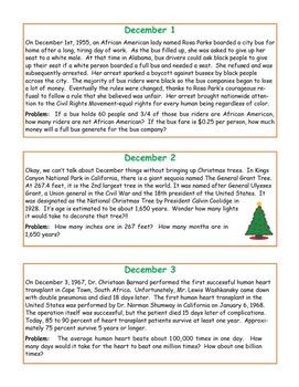 December MatHistory Warmups