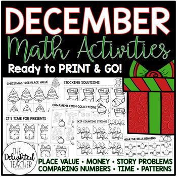December Math Activities {READY-TO-PRINT}