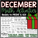 December Math Activities {READY-TO-PRINT}