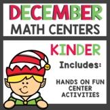 December Math Centers Kindergarten