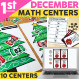 December Math Centers & Activities for 1st Grade