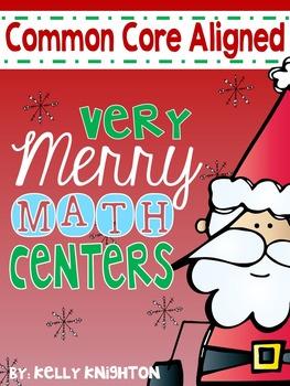 December Math Centers {FIRST GRADE}