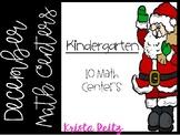 December Math Centers Kinder {shapes, numbers, base ten, ten frame, tally marks}