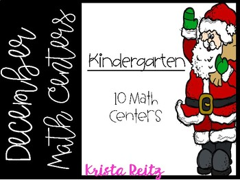 December Math Centers Kinder {shapes, numbers, base ten, ten frame, tally marks}