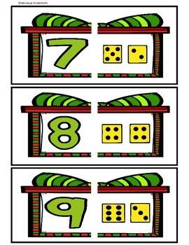 December Math Centers- Kindergarten