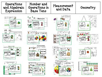 December Math Centers Menu {CCS Aligned} Grade 2