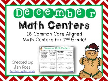 December Math Centers Menu {CCS Aligned} Grade 2