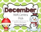 December Math Centers Pack