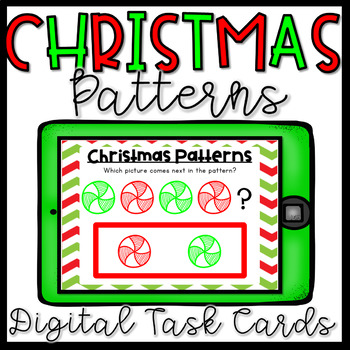 Christmas Math Centers- Patterns Boom Cards