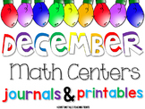 December Math Centers and Printables First Grade