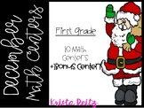 December Math Centers {expanded form, base ten, time, add.