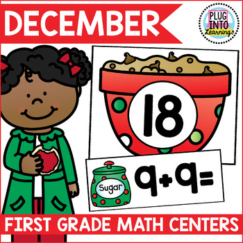 December Math Centers for First Grade