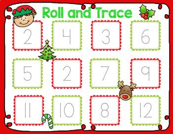 December/Christmas Math Centers for Kindergarten