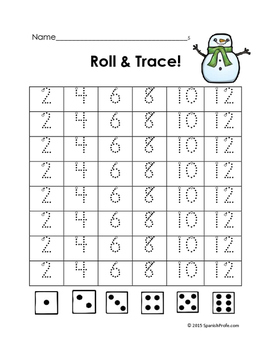 December Math Centers for Kindergarten and First Grade (K and 1st)