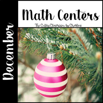 December Math Centers for Second Grade CCSS Aligned