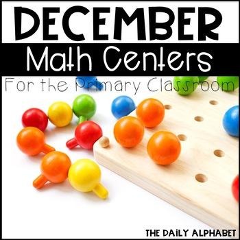 Kindergarten Math Centers for December