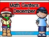 December Math Centers in Spanish