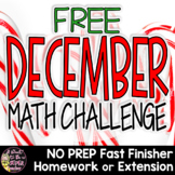 Christmas Math Challenge | 2nd 3rd Grade FREE Christmas Math Problem Printable