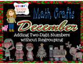 December Math Crafts Adding Two-Digit Numbers without Regrouping