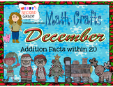 December Math Crafts Addition Facts within 20
