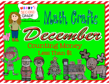 December Math Crafts Counting Money-Less than $1