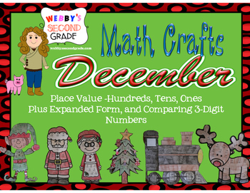 December Math Crafts Place Value and Expanded For H,T,O