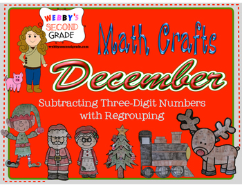 December Math Crafts Subtracting Three-Digit Numbers with