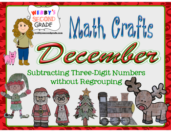 December Math Crafts Subtracting Three-Digit Numbers without Regrouping