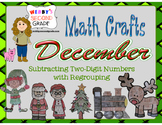 December Math Crafts Subtracting Two-Digit Numbers with Re