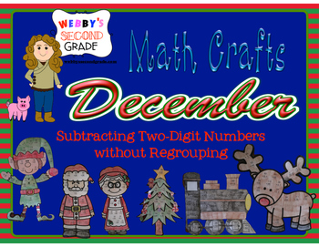 December Math Crafts Subtracting Two-Digit Numbers without