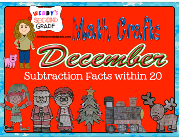 December Math Crafts Subtraction Facts within 20